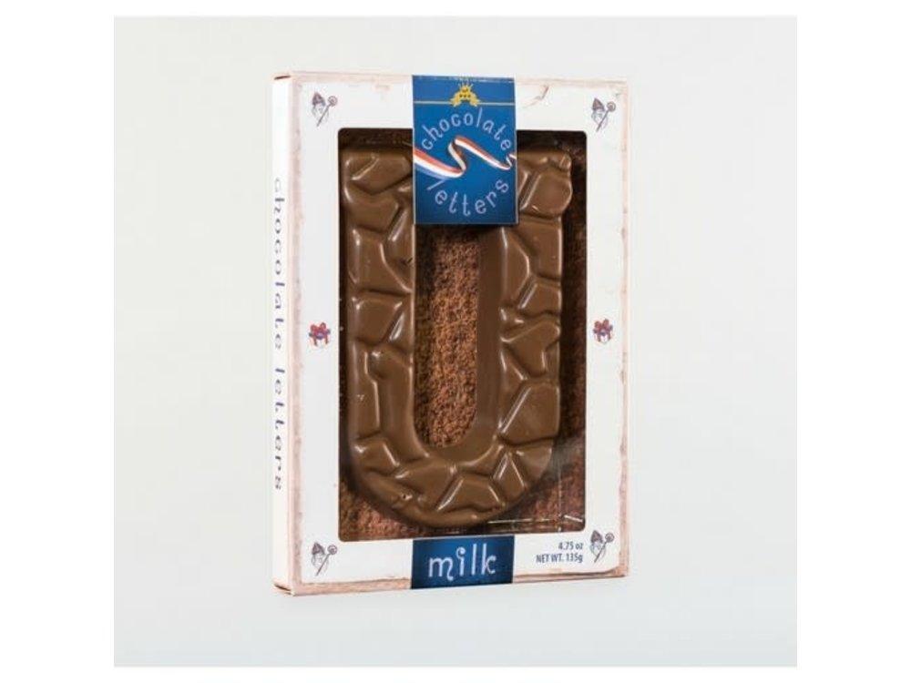 Droste Large U Milk Chocolate Letter