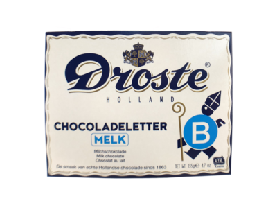 Droste Droste Large B Milk Chocolate Letter
