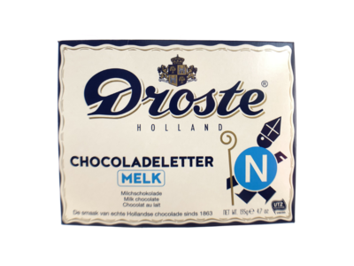 Droste Droste Large N Milk Chocolate Letter