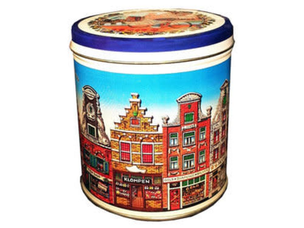 KM Stroopwafel tin Amsterdam Design Multicolor 8.8 oz