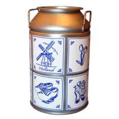 KM Milk Can Delft pattern with candy