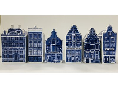 "Delft Canal Houses LARGE 5.5 "" set of 6"