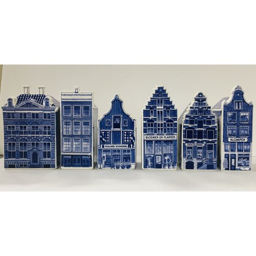"Delft Canal Houses 5.5 "" set of 6"