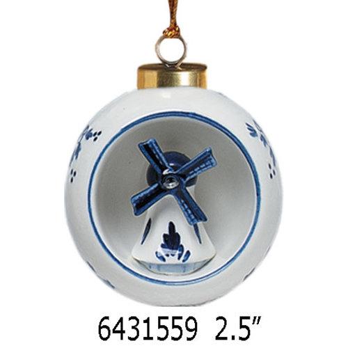 """Nelis Imports Delft Ornament Windmill 2.5"""""""