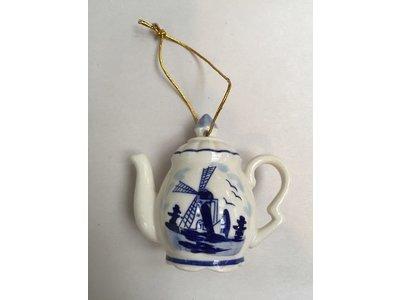 """Delft Ornament Teapot 3"""""""