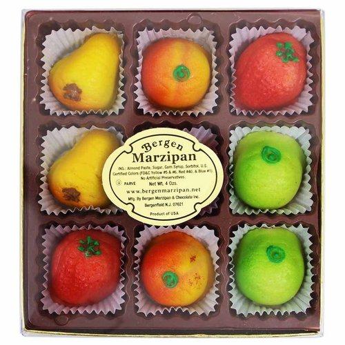 Bergen Marzipan Fruits Gift Box 9 pc 4 oz