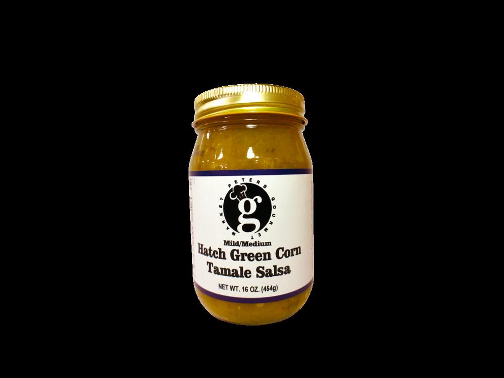 Peters Gourmet Foods Green Corn Tamale Salsa16 oz Med-Mild