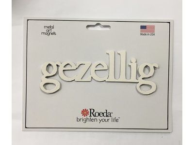 Roeda Studio Magnet Gezellig white  5 inches