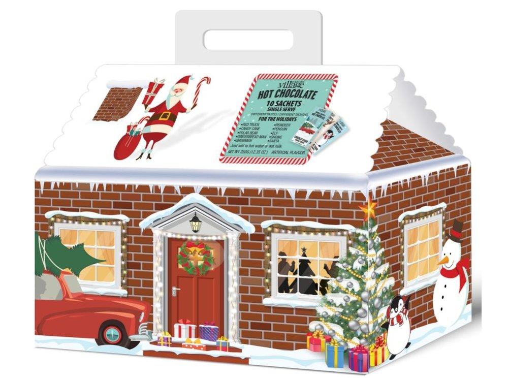 GDV Hot Chocolate House 10 Minis Retro Assortment