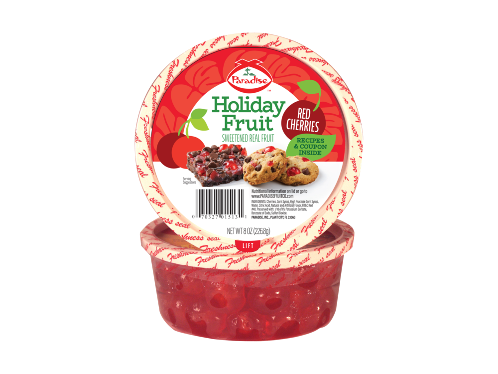 Paradise Fruit Paradise Fruit Red Cherries 4 oz Tub