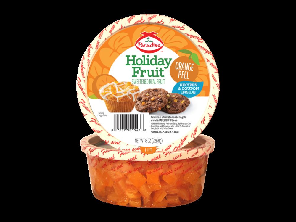 Paradise Fruit Paradise Fruit Orange Peel Diced 4 oz Tub