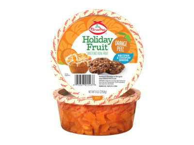 Paradise Fruit Paradise Fruit Orange Peel Diced 4 oz Tub
