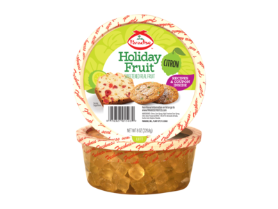 Paradise Fruit Paradise Fruit Citron Diced 4 oz tub