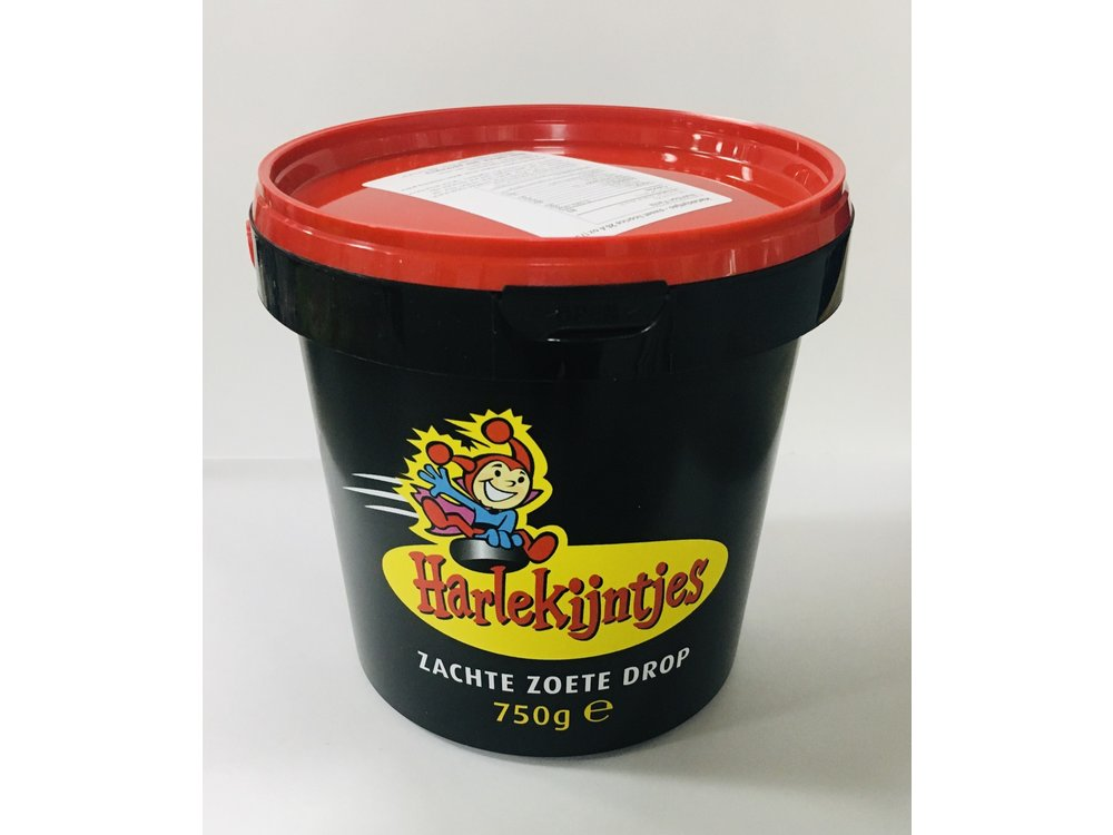 Harlekijntjes Soft Sweet Licorice 26.4 oz 750g Bucket