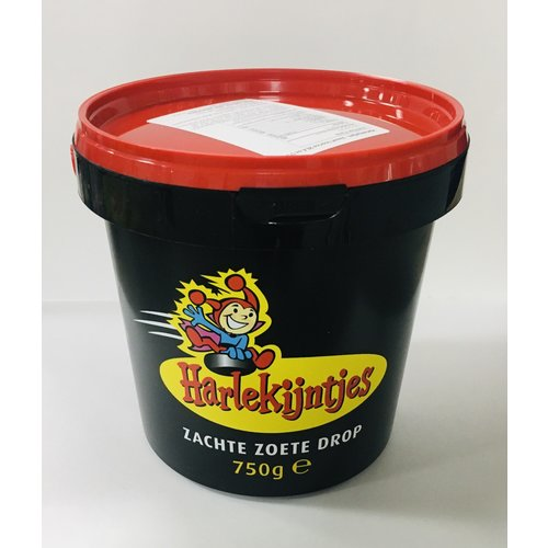 Harlekijntjes Soft Sweet Licorice 26.4 oz 750g Bucket