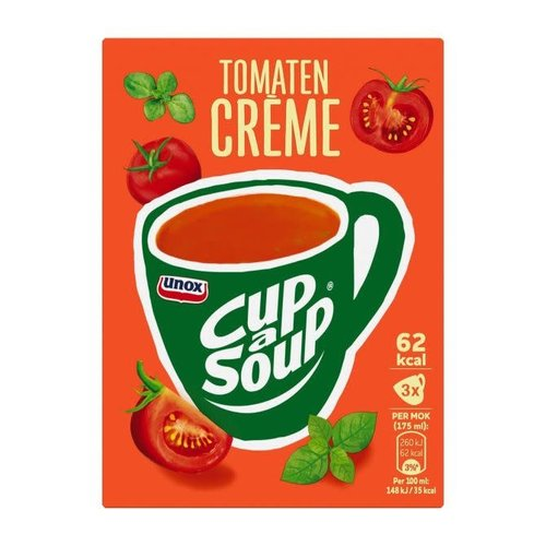 Unox Unox Instant Tomato Cream Cup A Soup 3 packets