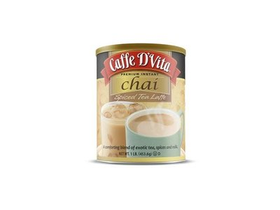 Caffe D Vita Chai Spiced Tea Latte Mix 16 oz