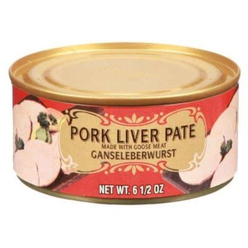 Geiers Pork Liver Pate w/Goose Meat  6.5 oz Tin