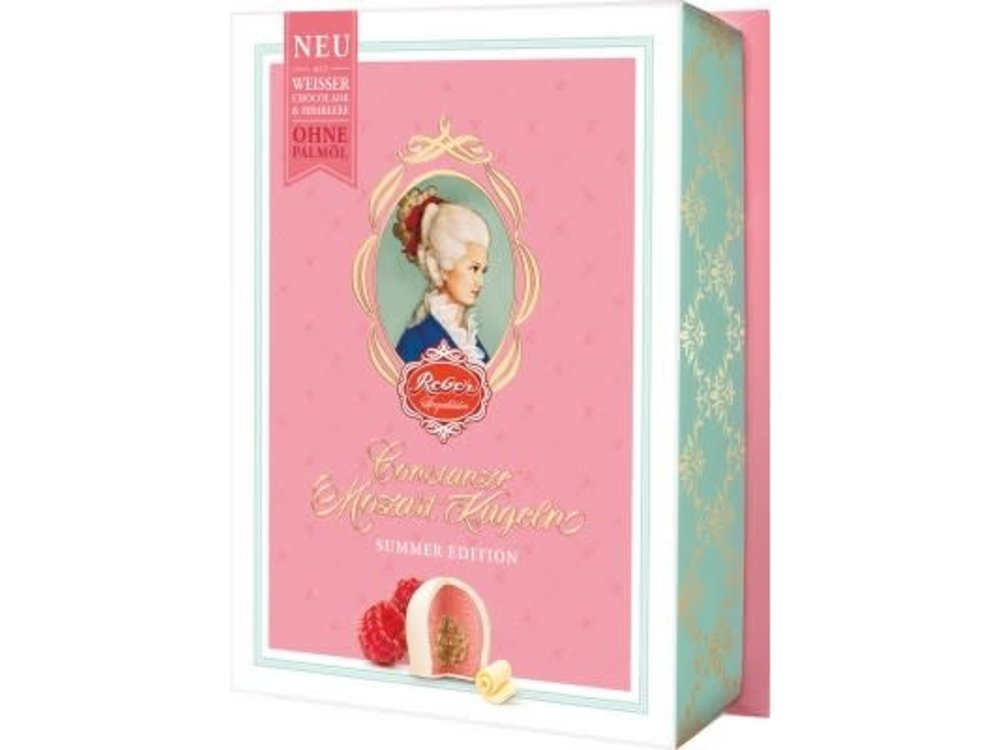 Reber Mozart Reber White Chocolate Raspberry Kugeln 4.2oz