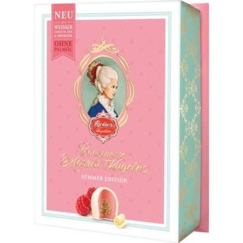 Reber Mozart Reber White Chocolate Raspberry Kugeln 4.2oz