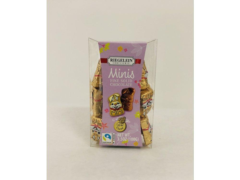 Riegelein Riegelein Mini Chocolate Bunnies 3.5oz