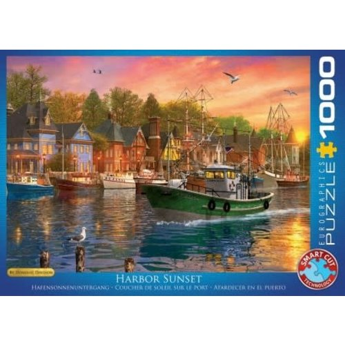 Games Puzzle Harbor Sunset 1000 pc