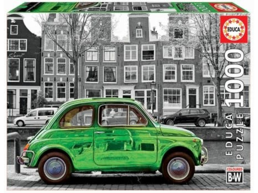 Games Puzzle Green Car in Amsterdam 1000 pc