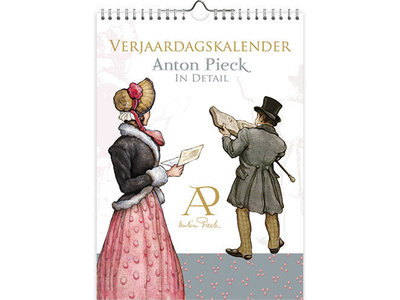"Calendars Anton Pieck ""in Detail"" Birthday Calendar 7x9"