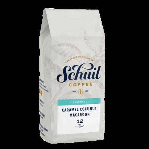 Schuil Schuil Caramel Coconut Macroon 12 oz Bean Coffee