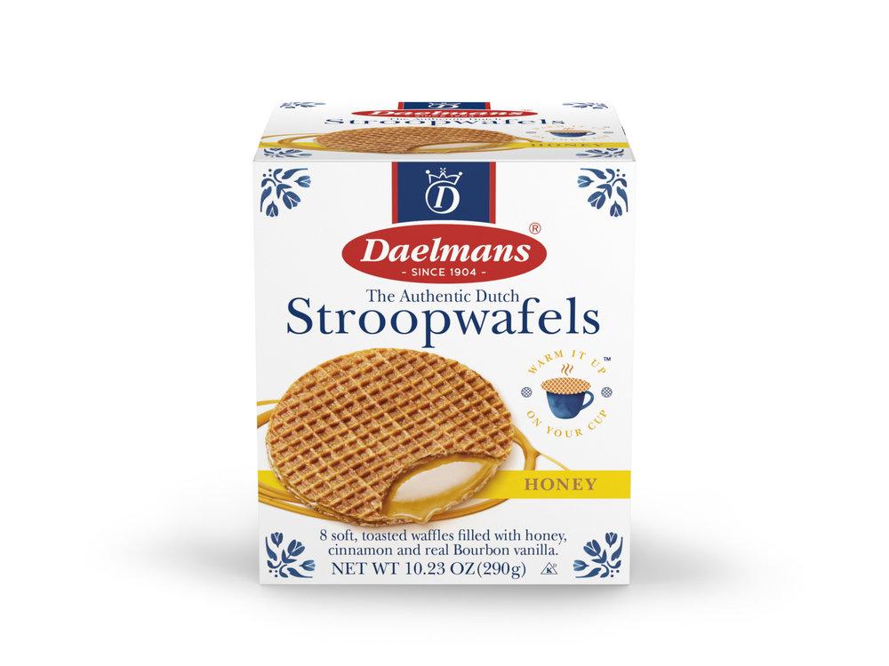 Daelmans Daelmans Jumbo Honey Syrupwafer in Box 10.23 oz
