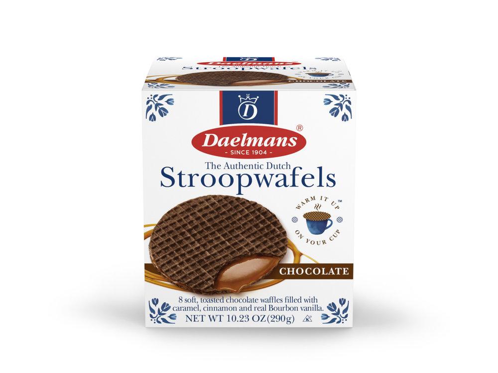 Daelmans Daelmans Jumbo Chocolate Caramel Syrupwafer in Box 10.23 oz
