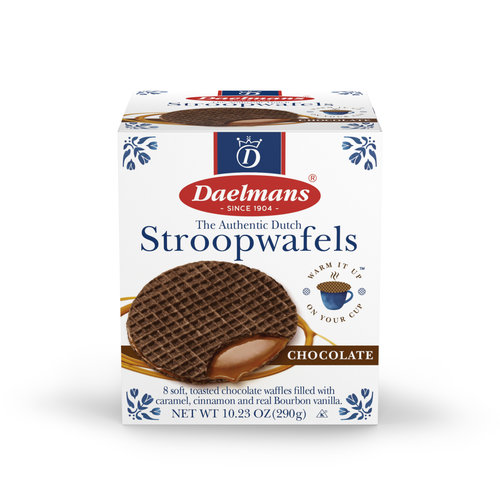 Daelmans Daelmans Jumbo Chocolate Caramel Syrupwafer in Box 10.23 oz