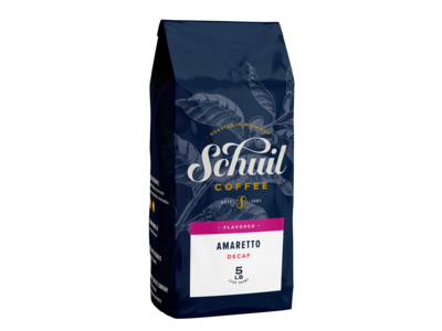 Schuil Schuil Amaretto Flavored Coffee 12 oz Decaf
