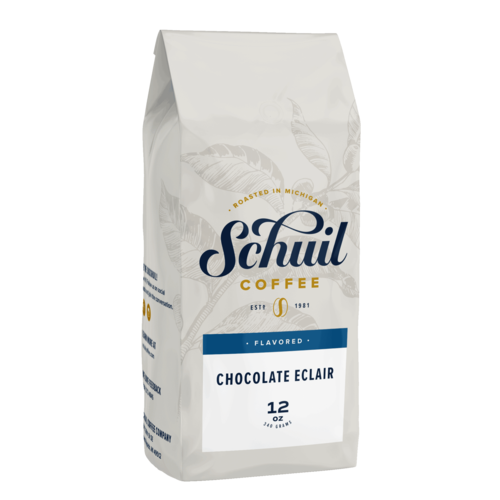 Schuil Schuil Chocolate Eclair Flavored Coffee 12 oz Decaf