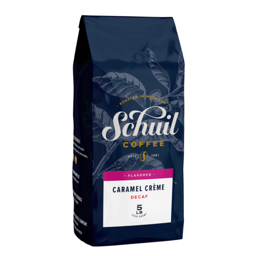 Schuil Schuil Caramel Creme Flavored Coffee 12 oz Decaf