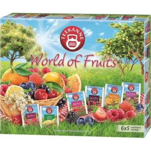 Teekanne Word of Fruits 6 flavor tea assortment