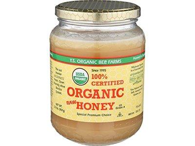 YS Organic Raw Honey 16 oz jar