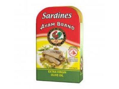 Ayam Ayam Sardines in Olive Oil 4.2 Oz