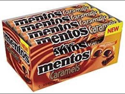 Van Melle Mentos Choco Caramel Rolls 24ct Box