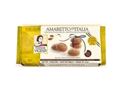 Italian Fine Pastry Vicenzi Macaroon Amaretto D'Italia  Cookie 7.05 Oz