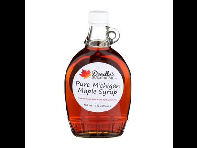 Doodles Maple Syrup 8 oz Glass Jar