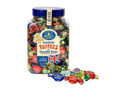 Walkers Nonsuch Walker Assorted English Toffees 16 oz jar