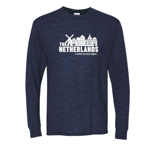 Peters Netherlands My Story Navy Adult MED Long Sleeve-shirt