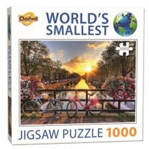 Games Puzzle Worlds Smallest Bikes on Canal in Amsterdam  1000 pcs