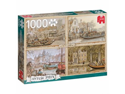 Games Puzzle Anton Pieck Canal Boats 1000 pcs