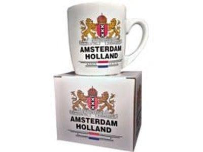 Amsterdam White Mug Coat of Arms in box