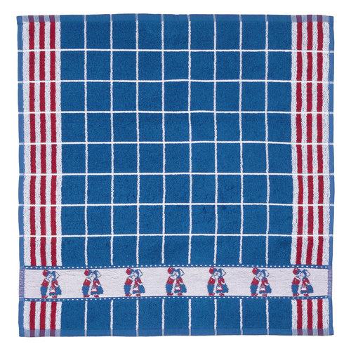 Twentse Twentse HAND Towel Kissing Couple Blue/Red 20 x 20 inch