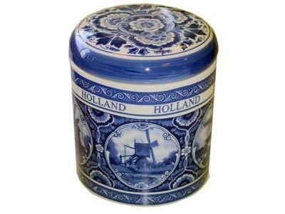 Delft Storage Jar w/lid for Stroopwafels