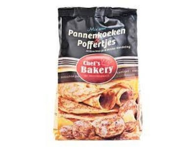 Chefs Bakery Mini Pancake Mix Poffertjes 2.2 lb Bag