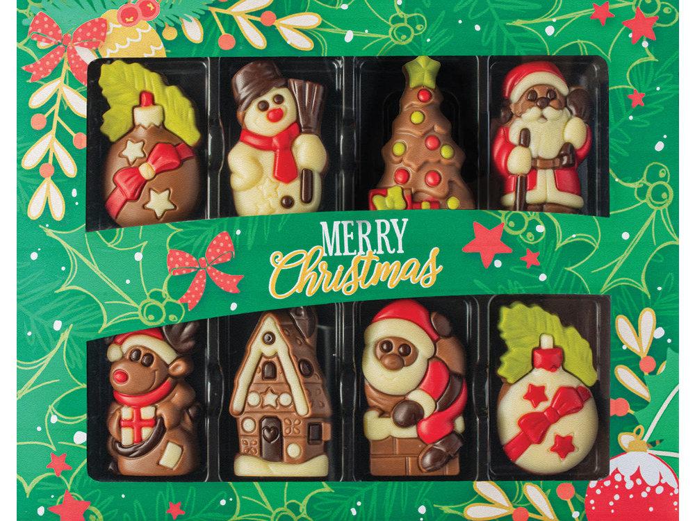 Weibler Christmas 8 Chocolate Figures 2.82 oz